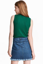 Turtleneck top - Emerald green -  | H&M CN 4