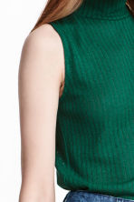 Turtleneck top - Emerald green -  | H&M CN 3