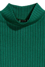 Turtleneck top - Emerald green -  | H&M CN 5