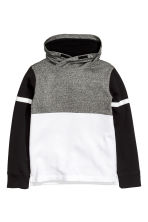 Funnel-collar sweatshirt - Black/White - Kids | H&M CN 2