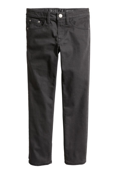 Twill trousers Skinny fit - Black - Kids | H&M CA