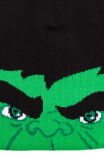 Jacquard-knit hat - Black/Hulk - Kids | H&M CN 2