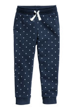 Joggers - Dark blue/Spotted - Kids | H&M CN 2