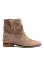 Suede boots - Beige - Ladies | H&M GB 1