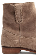 Suede boots - Beige - Ladies | H&M GB 4
