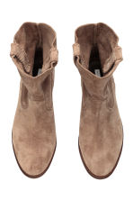 Suede boots - Beige - Ladies | H&M GB 2