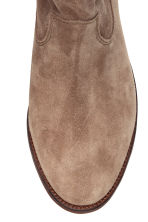 Suede boots - Beige - Ladies | H&M GB 3