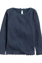 2-pack pointelle tops - Dark blue - Kids | H&M CN 5