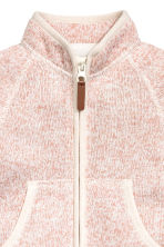 Knitted fleece jacket - Powder pink marl - Kids | H&M CN 2