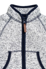 Knitted fleece jacket - Dark blue marl - Kids | H&M CN 2