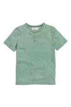 T-shirt in slub jersey - Green marl - Kids | H&M CN 2