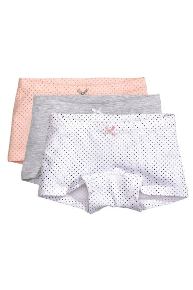 3-pack boxer briefs - Grey marl - Kids | H&M 1
