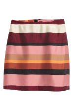 Patterned skirt - Burgundy/Striped - Ladies | H&M CN 2