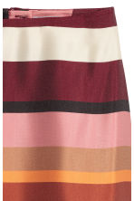 Patterned skirt - Burgundy/Striped - Ladies | H&M CN 3