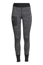 Outdoor tights - Black marl - Ladies | H&M CN 2