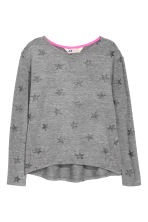 Knitted printed jumper - Dark grey/Stars - Kids | H&M CN 2