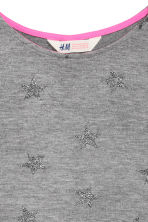 Knitted printed jumper - Dark grey/Stars - Kids | H&M CN 3