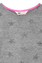 Knitted printed jumper - Dark grey/Stars - Kids | H&M CN 4