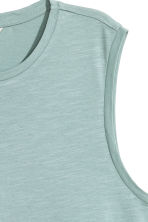 Vest top - Light turquoise marl - Ladies | H&M CN 3