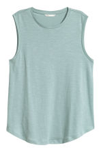 Vest top - Light turquoise marl - Ladies | H&M CN 2