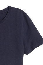 Cotton T-shirt - Dark blue - Ladies | H&M CN 3