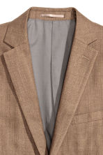 Blazer in misto lino Slim fit - Beige scuro - UOMO | H&M IT 2