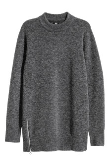 Long merino-blend jumper