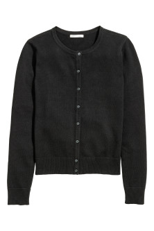 Fine-knit cotton cardigan