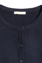 Fine-knit cotton cardigan - Dark blue - Ladies | H&M CN 4