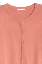 Fine-knit cotton cardigan - Dark powder pink - Ladies | H&M CA 3