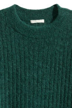 Oversized mohair-blend jumper - Dark green marl - Ladies | H&M GB 3
