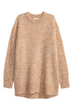 Oversized mohair-blend jumper - Beige marl - Ladies | H&M GB 2
