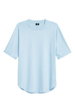 Cotton T-shirt - Light blue - Men | H&M CN 2
