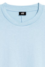 Cotton T-shirt - Light blue - Men | H&M CN 3