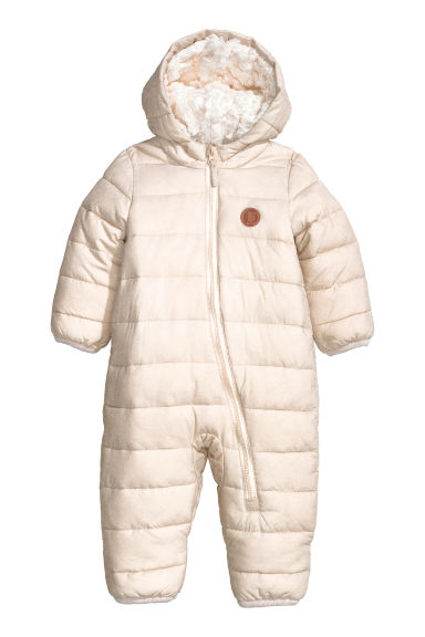 Pile-lined all-in-one suit - Natural white - Kids | H&M CN 1