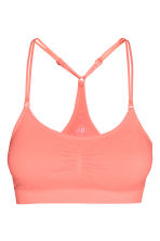 Sports bra Low support - Light coral - Ladies | H&M GB 2