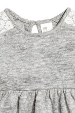 Fine-knit dress - Grey marl - Kids | H&M CN 2