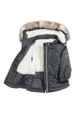 Padded parka - Dark grey -  | H&M CN 2