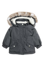 Padded parka - Dark grey -  | H&M CN 1