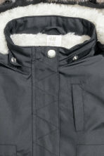 Padded parka - Dark grey -  | H&M CN 3