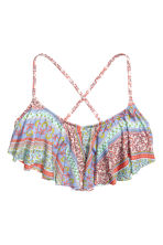Frilled bikini top - Apricot/Patterned - Ladies | H&M CN 2