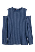 H&M+ Cold shoulder top - Dark blue - Ladies | H&M CN 1