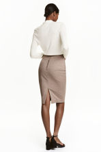 Pencil skirt - Beige/Checked - Ladies | H&M CN 4