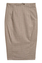 Pencil skirt - Beige/Checked - Ladies | H&M CN 2