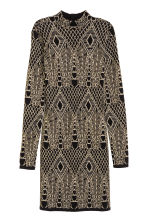 Glittery dress - Black/Patterned - Ladies | H&M CN 2