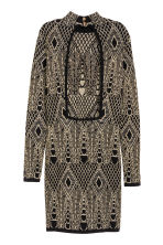 Glittery dress - Black/Patterned - Ladies | H&M CN 3