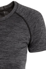 Seamless outdoor top - Black marl - Ladies | H&M CN 2