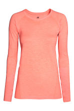 Top training sans coutures - Orange fluo chiné - FEMME | H&M FR 2