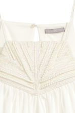 Tape-embroidered dress - White - Ladies | H&M CN 3