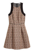 Jacquard-weave dress - Light beige/Pattern - Ladies | H&M CN 2
